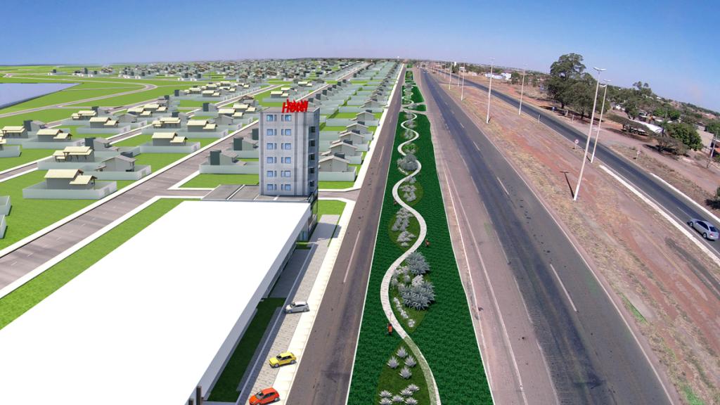Imagem área do bairro planejado Cidade Viva Parque Três Poderes 1