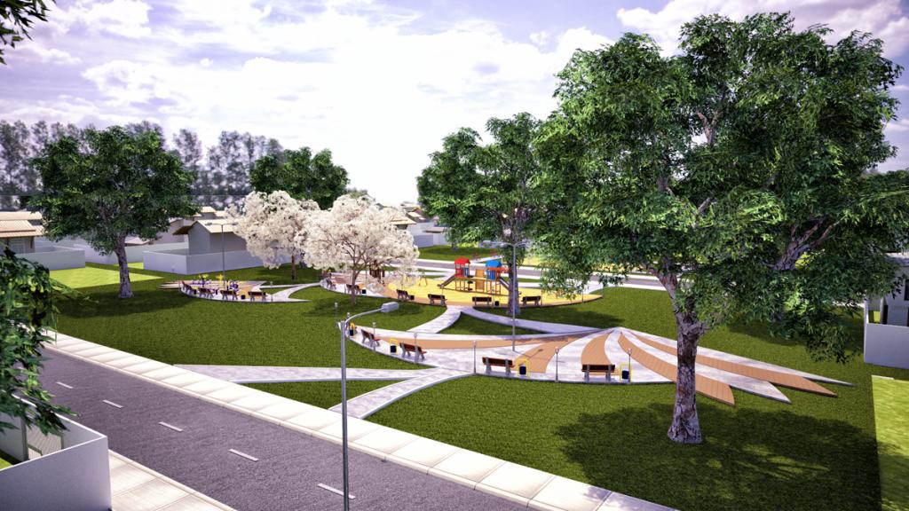 Área de convívio social Cidade Viva Três Poderes 2