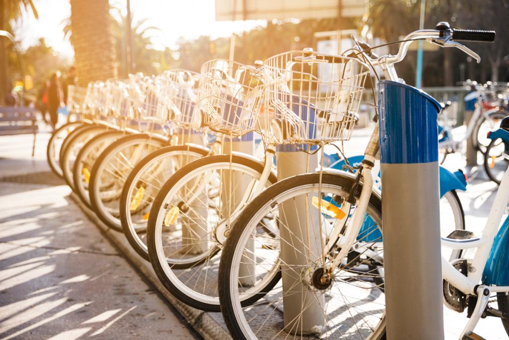 estação de bicicletas